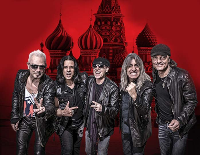 The Scorpions с концертом Crazy World Tour